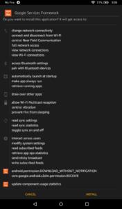 Install Google Services Framework
